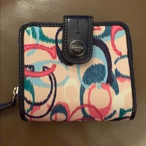 Coach tri-fold multi-colored wallet never worn